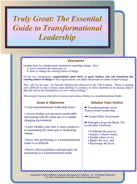 transformational leadership style of influence The effects of transformational leadership on employees  influence on absence (eg work  their line manager adopted a transformational-reward style of leadership.