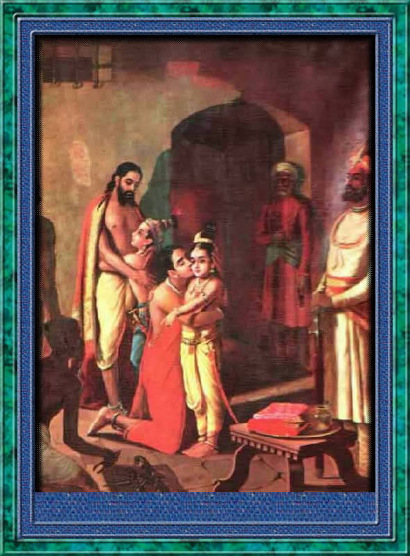 Krishna meets his parents. Sometimes, children take there vision from one or both parents. This leadership vision is more than just getting a degree. It can involve a life purpose.