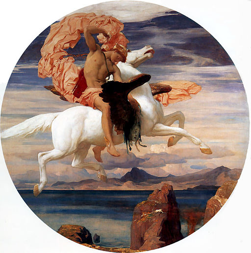 Leighton,_Frederic_-_Perseus_On_Pegasus_Hastening_To_the_Rescue_of_Andromeda_-_1895-96