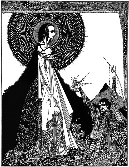 "Illustration for Edgar Allan Poe's story ""Ligeia"" by Harry Clarke (1889-1931), published in 1919. How many times has a teacher, your parents, your boss asked you to close your eyes and use your imagination? For most everyone that answer is never."