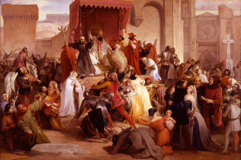 One of the pivotal events that changed history was a speech the served as a catalyst of the crusades.