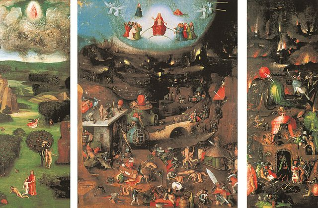 A symbolic depiction of the good and the bad in all of us. Hieronymus Bosch (circa 1450–1516): The Last Judgment