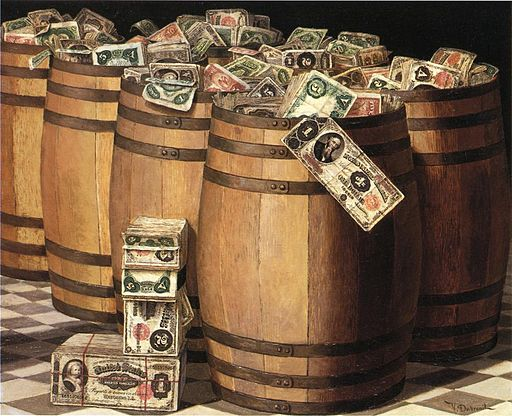 Program_Victor_Dubreuil_-_Barrels_on_Money%2c_c._1897_oil_on_canvas