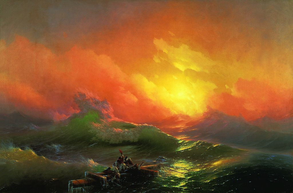 Painting by: Ivan Aivazovsky (1817–1900): The Ninth Wave