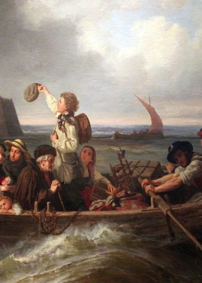 Before you can go to the future, you must let go of the past. And more than that, you must know where you are headed. Painting by: Antoine Volkmar (*1827): Emigrant's farewell