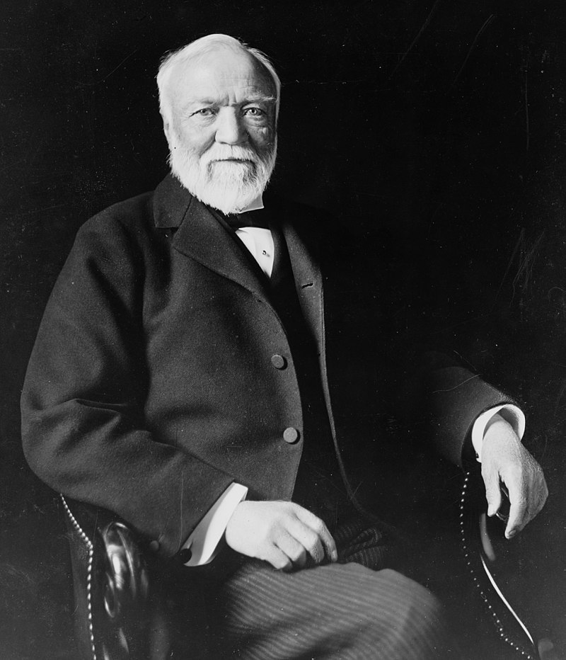 In some respects, Andrew Carnegie is the ideal of a Great Man. For he spent the early part of his life creating his fortune, and the latter part of his life giving it away. A great deal of his fortune was spent on libraries and universities. Photograph by: Theodore C. Marceau